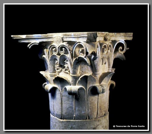 Período Segundo Templo - Capitel Coríntio Jerusalem